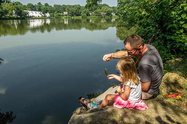 Father and daughter at Wilde Lake Park